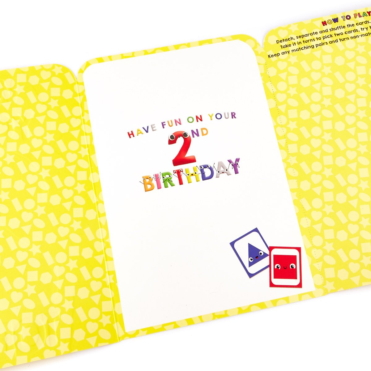 2nd Birthday Card & Memory Matching Game