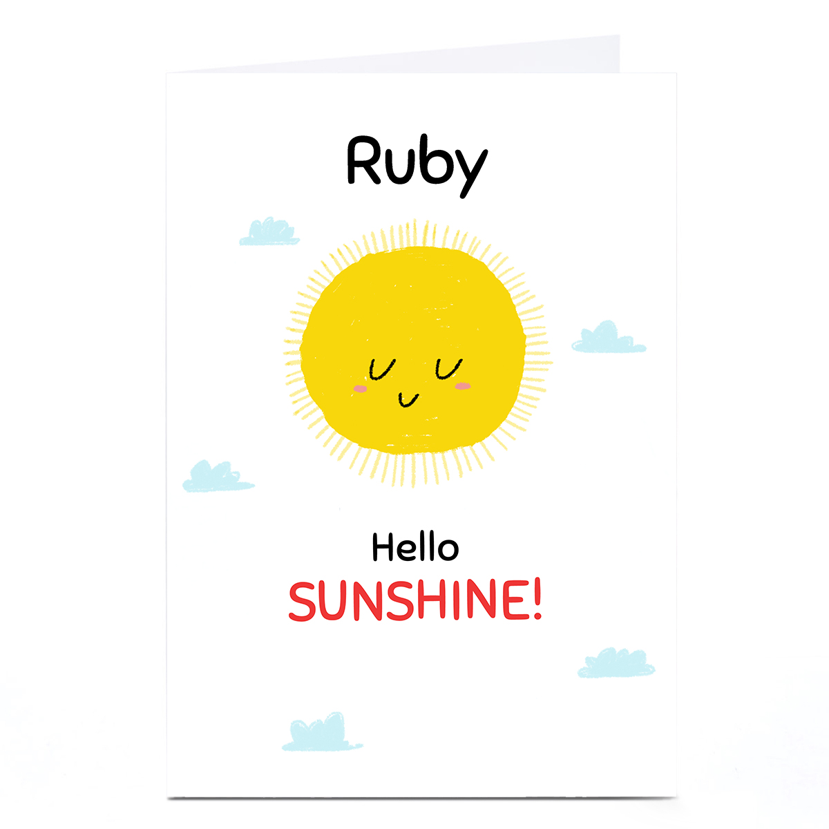 Personalised Hew Ma New Baby Card - Hello Sunshine