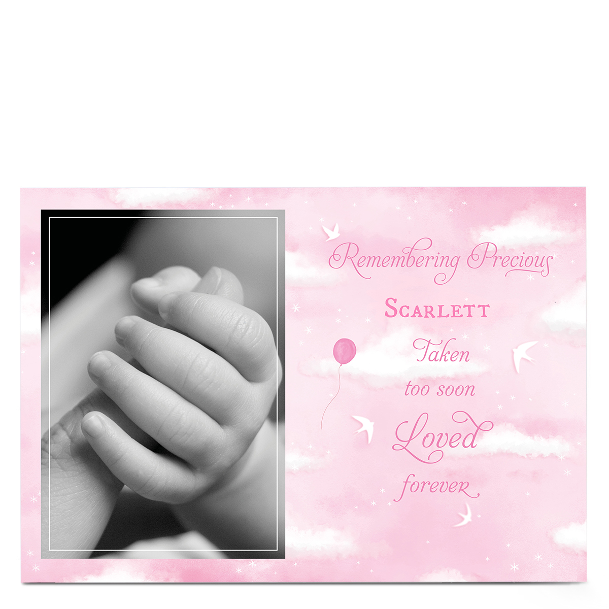 Personalised Sympathy Photo Card - Remembering Precious