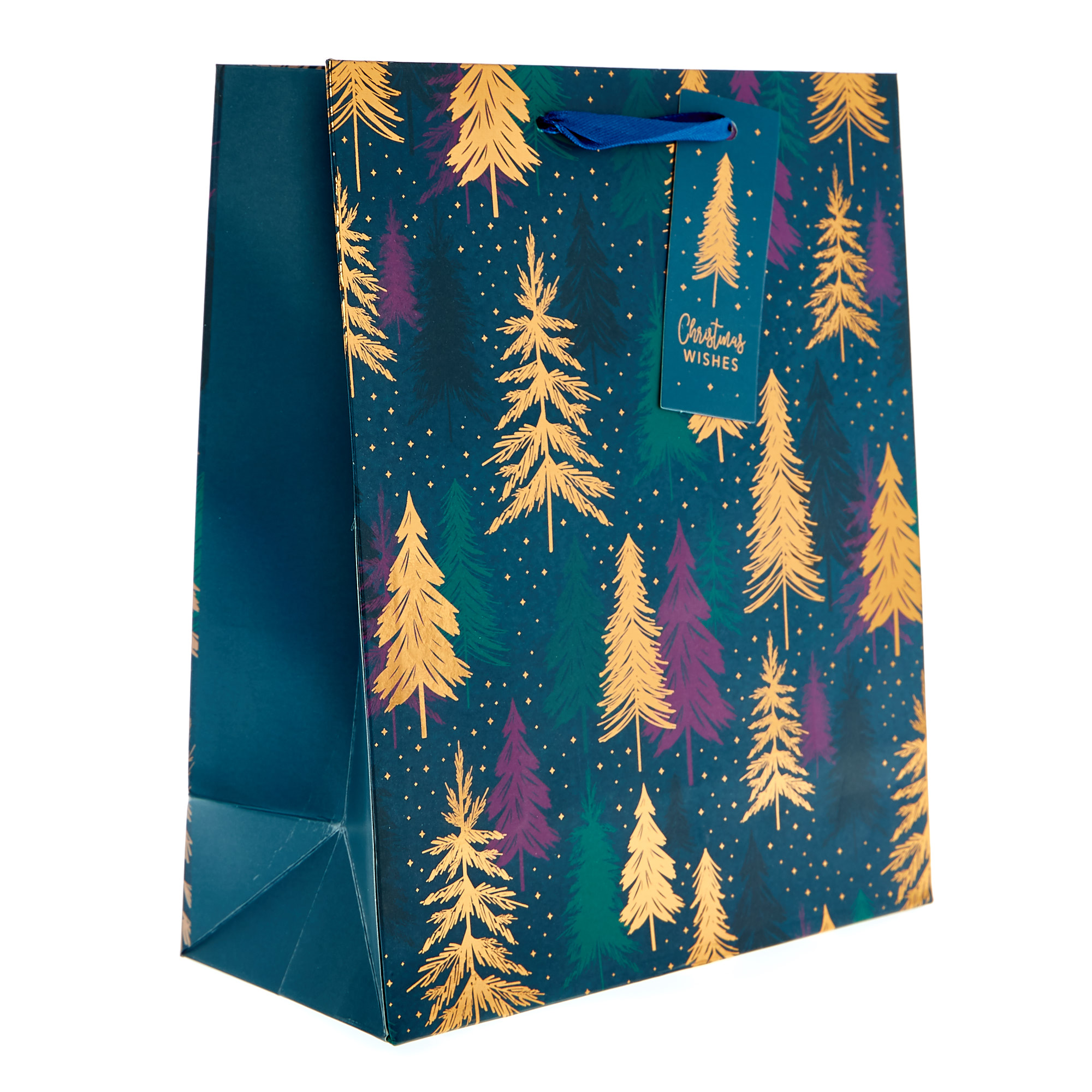 Small Portrait Festive Trees Christmas Gift Bag