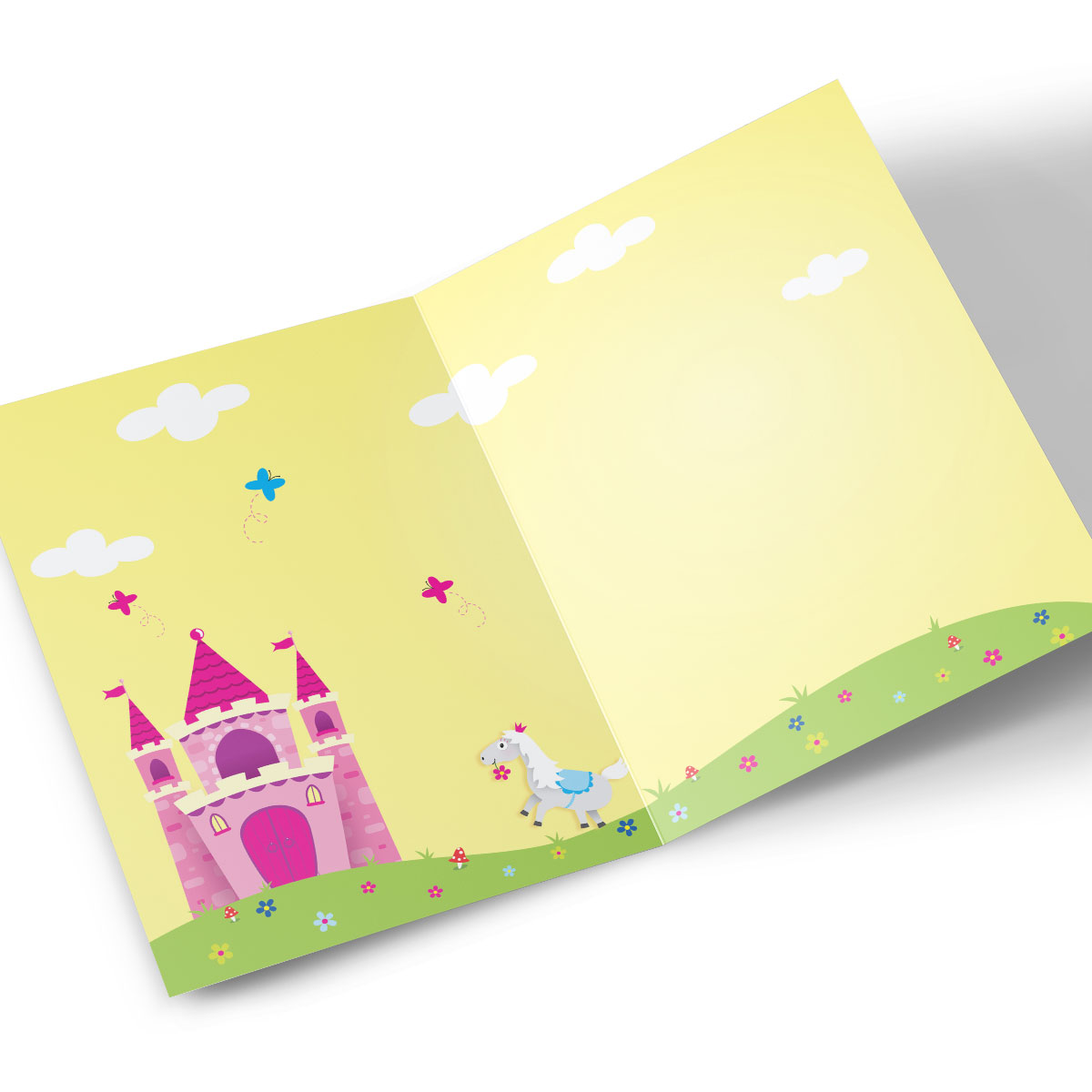 Personalised Any Age Birthday Card - Princess Castle