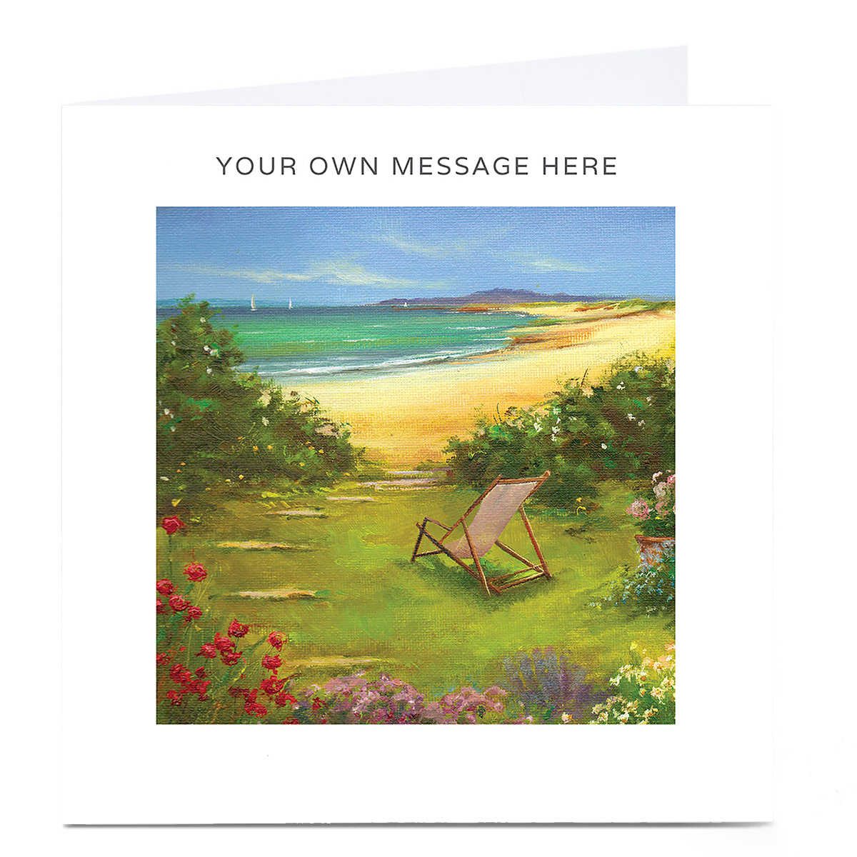 Personalised Card - Deckchair By The Sea