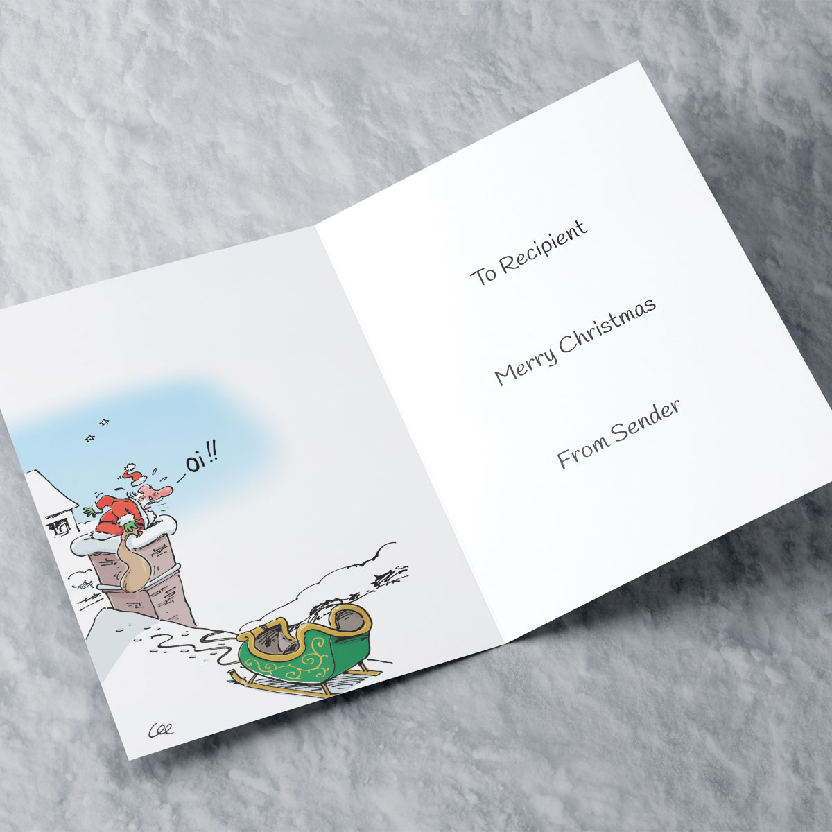 Personalised Christmas Card - Reindeer Thief