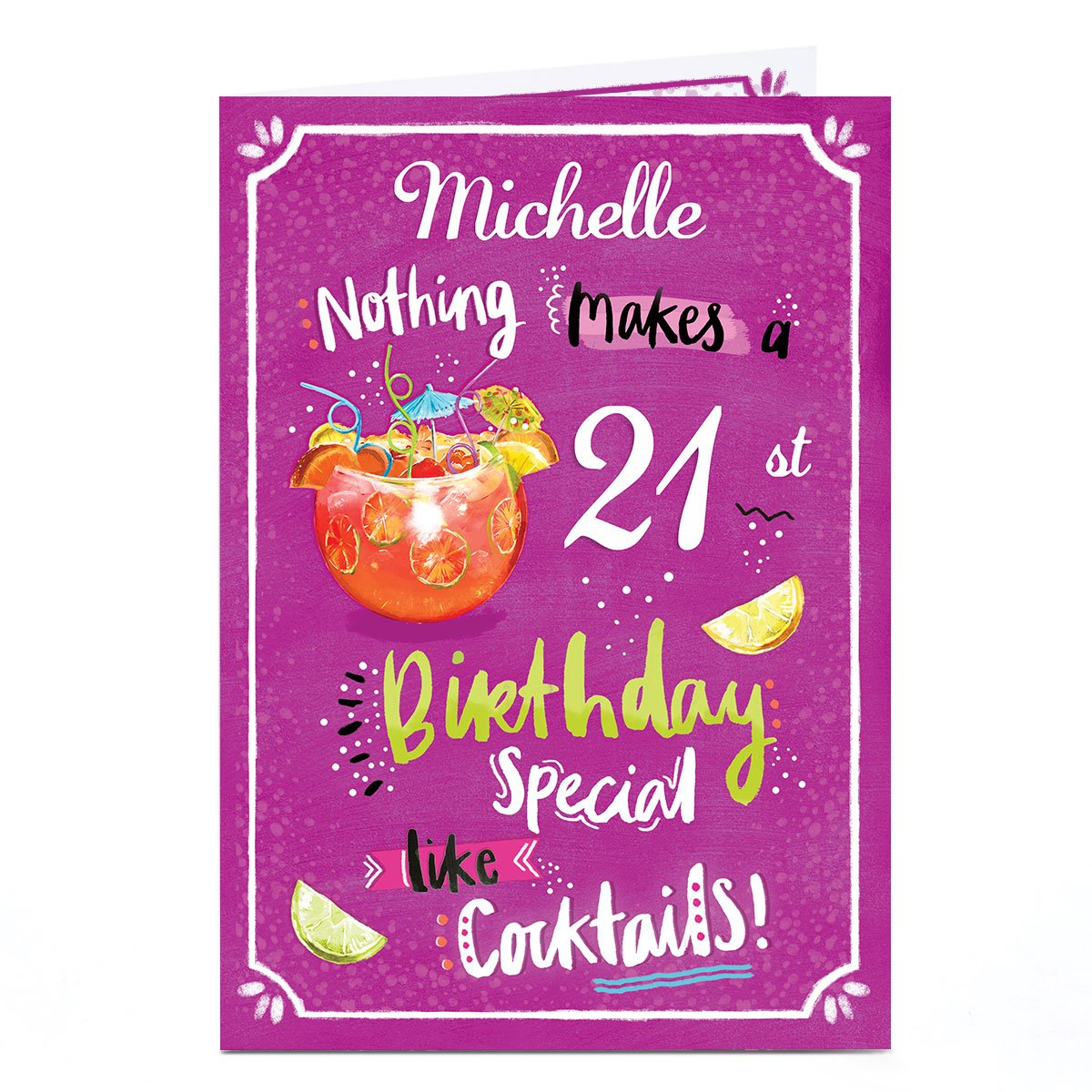 Personalised Any Age Birthday Card - Birthday Cocktails