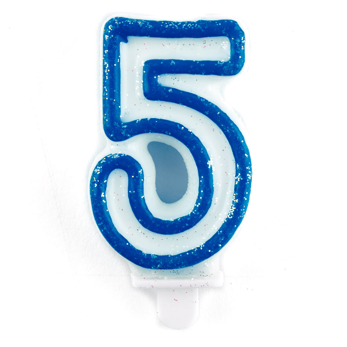 Blue Number 5 Birthday Candle 4782