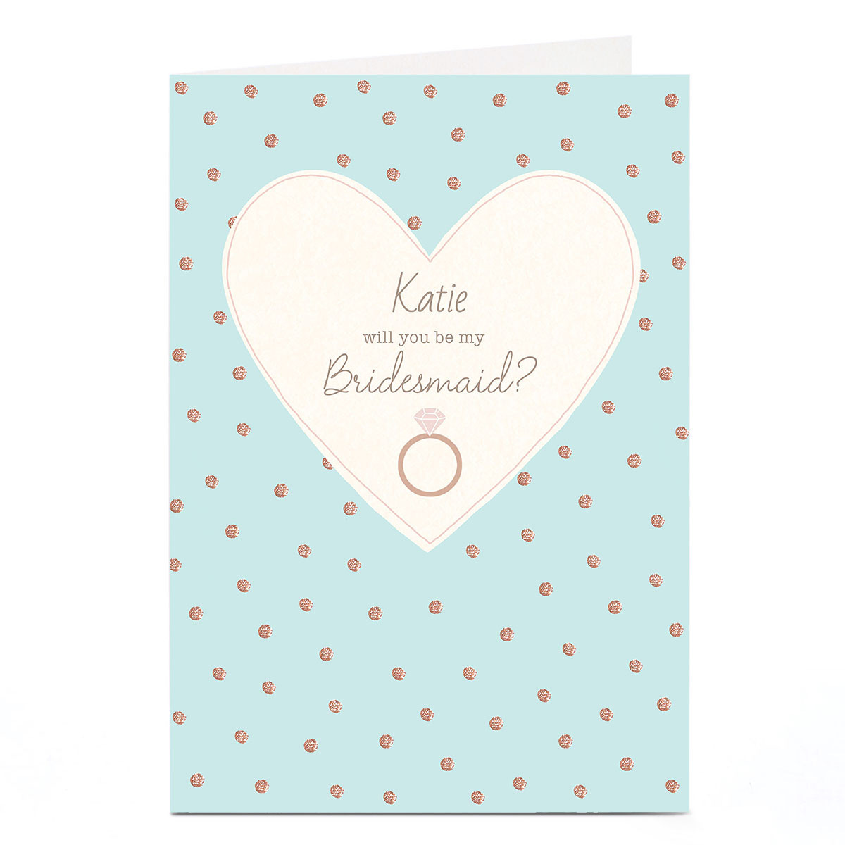 Personalised Wedding Card - Be My Bridesmaid Blue