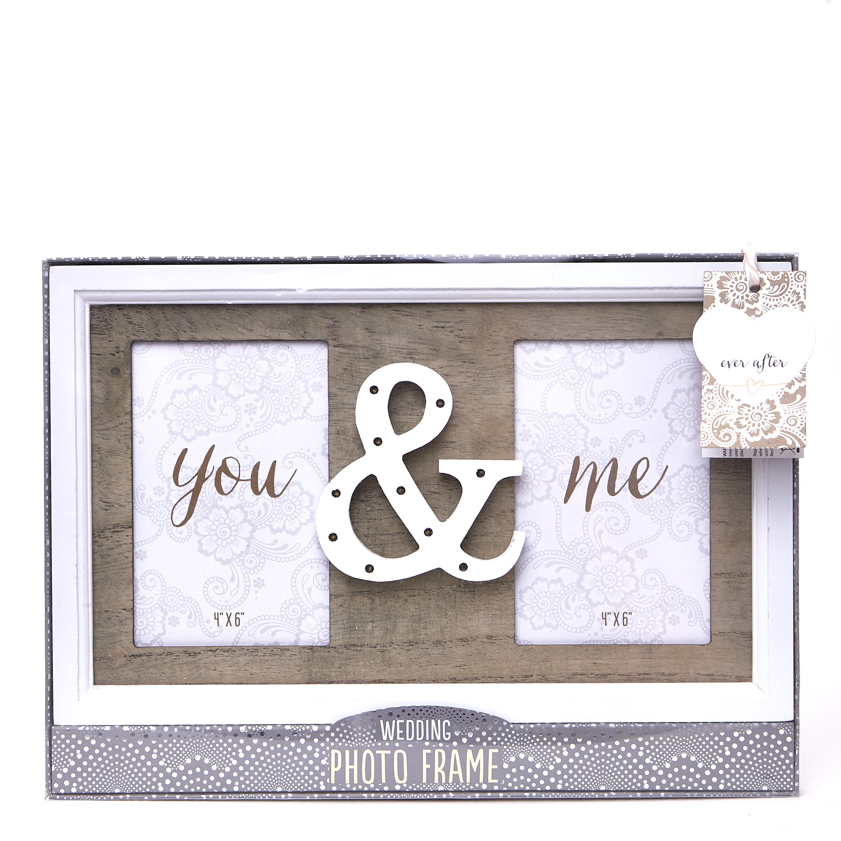 Wooden Light Up You & Me Photo Frame