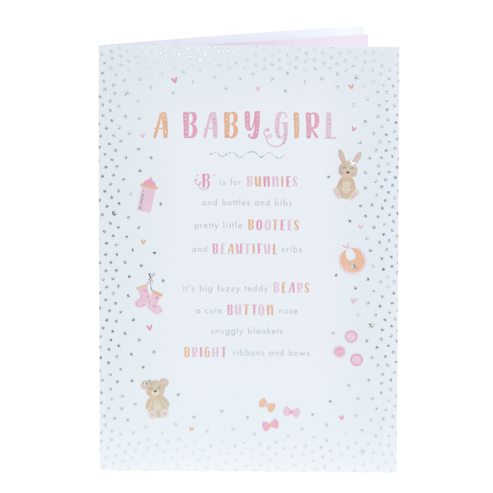 New Baby Card - A Baby Girl