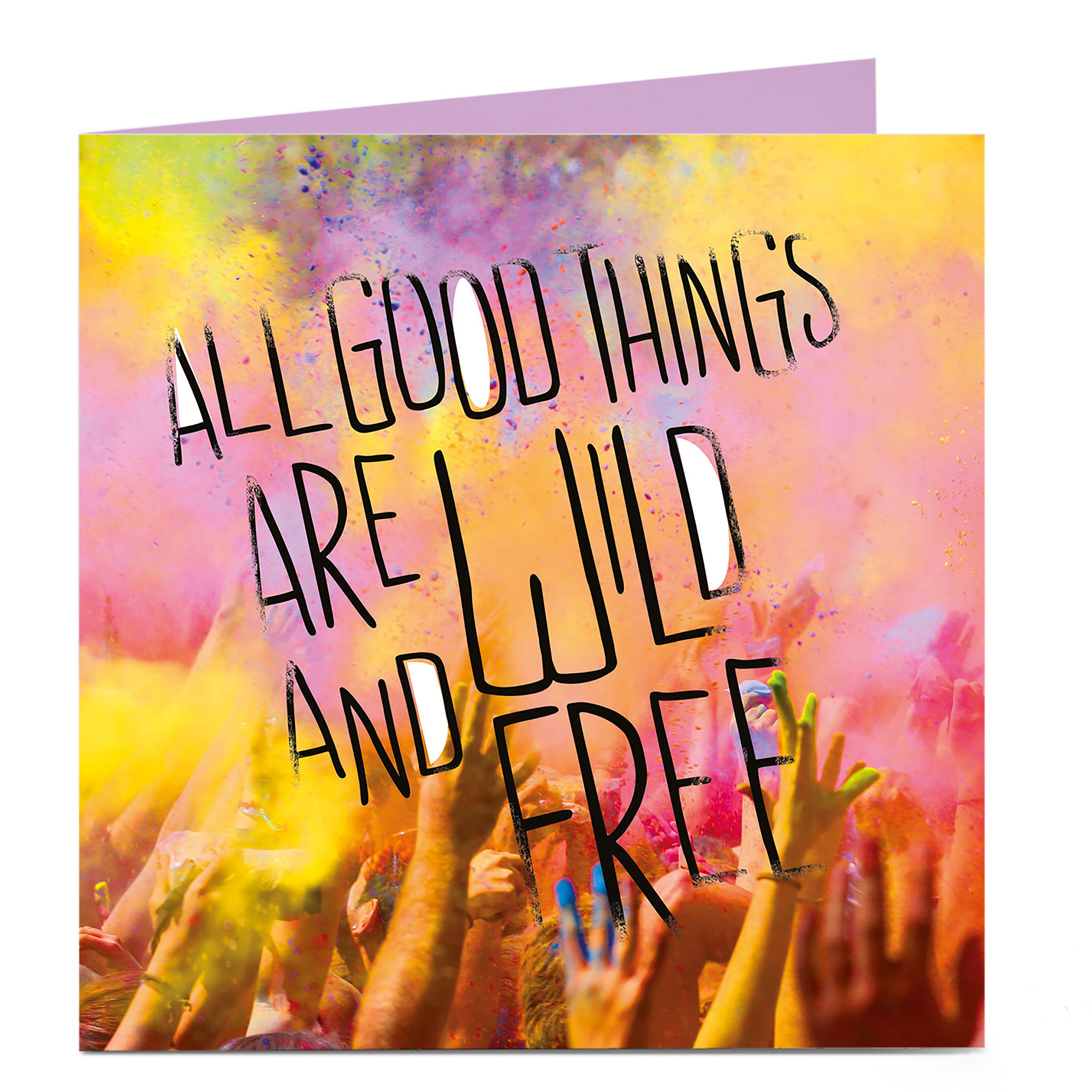 Personalised Bright Ideas Card - All Good Things Are Wild And Free