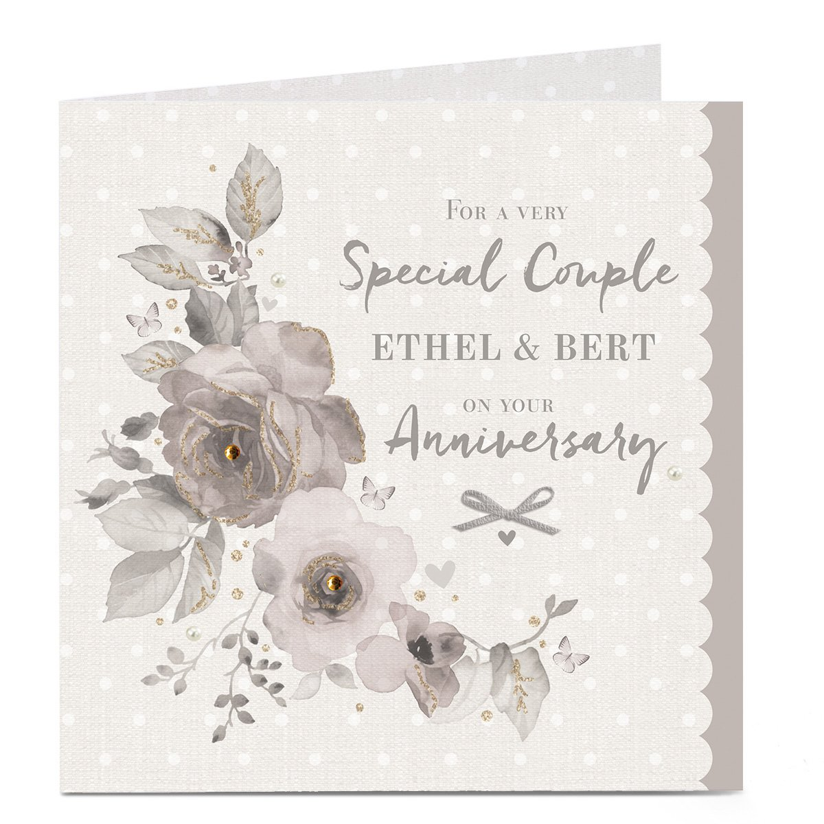 buy personalised anniversary card  very special couple