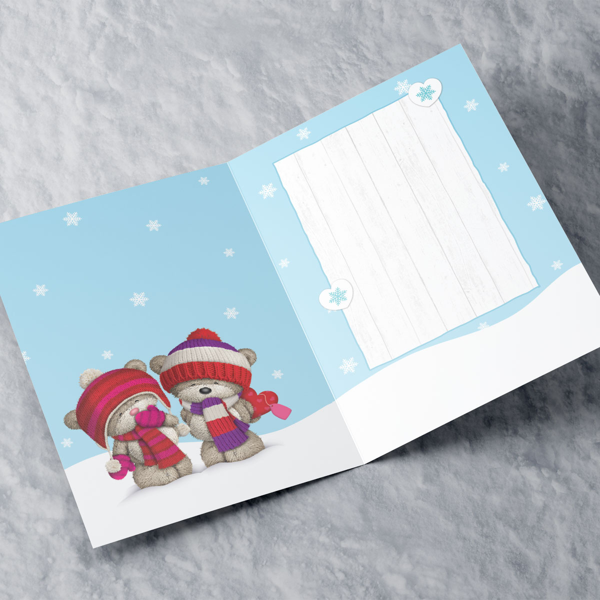 Personalised Hugs Bear Christmas Card - Brother & Sister-in-Law With Love