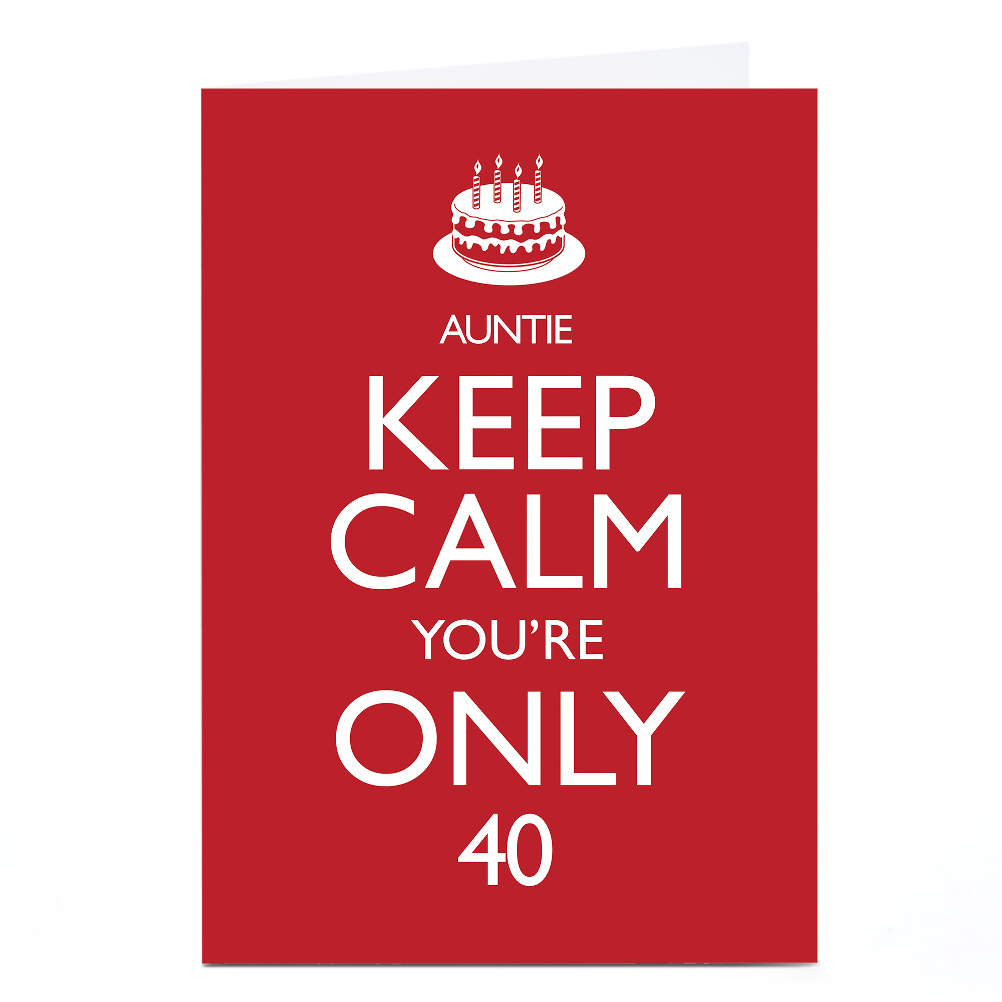 Personalised Any Age Birthday Card - Keep Calm Auntie