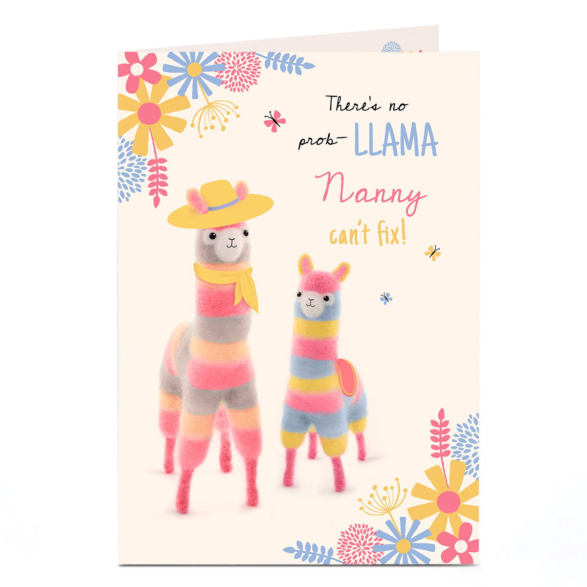 Personalised Mother's Day Card - No Prob-llama!