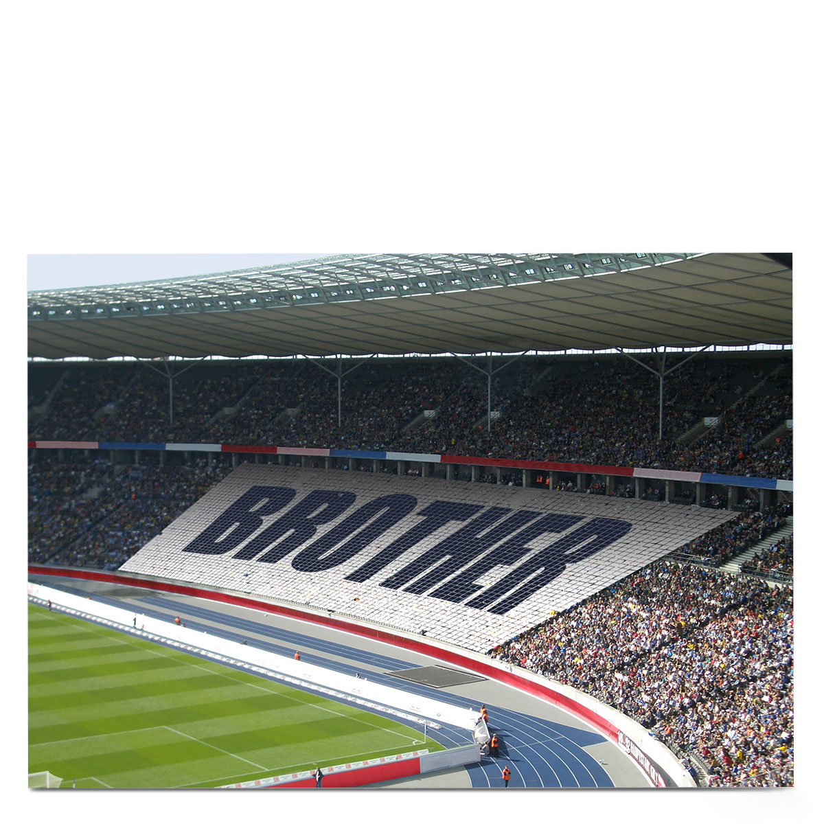 Personalised Birthday Card - Stadium Crowd [Brother]