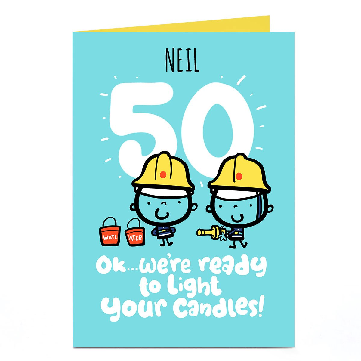 Personalised Fruitloops 50th Birthday Card - Light Your Candles!
