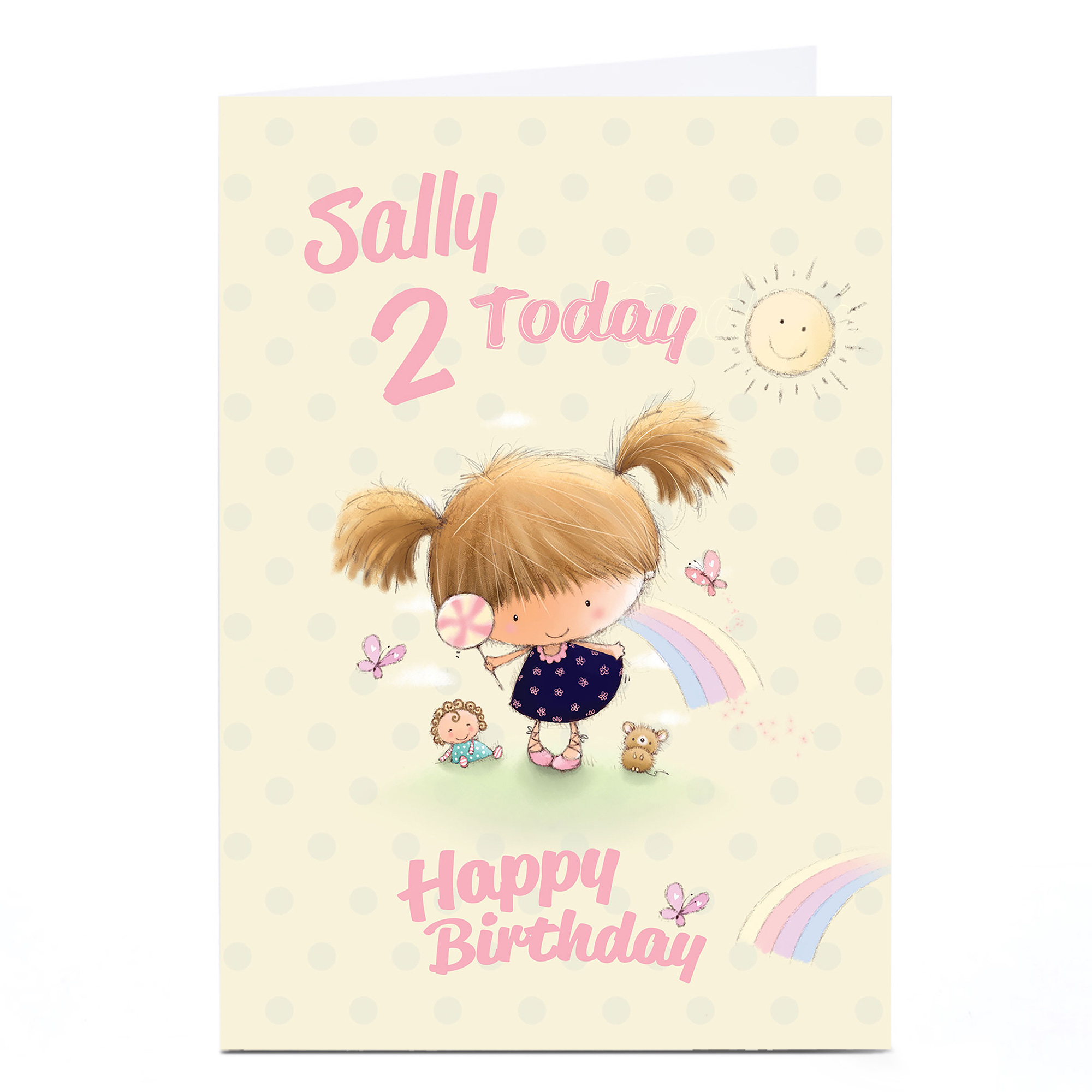 Personalised Any Age Birthday Card - Sunshine & Lollipop