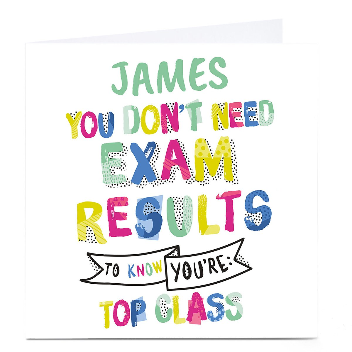 Personalised Exams Card - You're Top Class