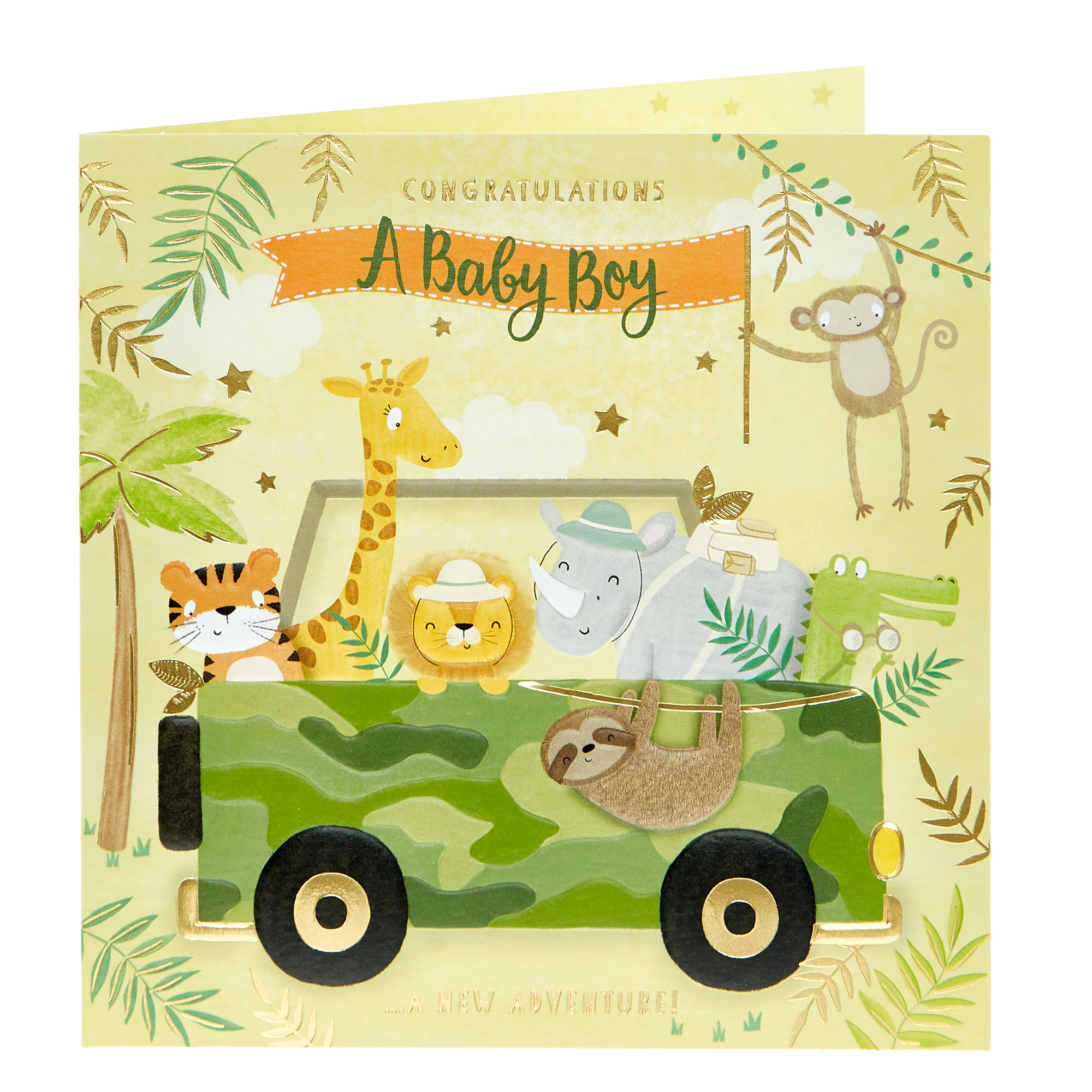 buy new baby card  baby boy new adventure for gbp 099