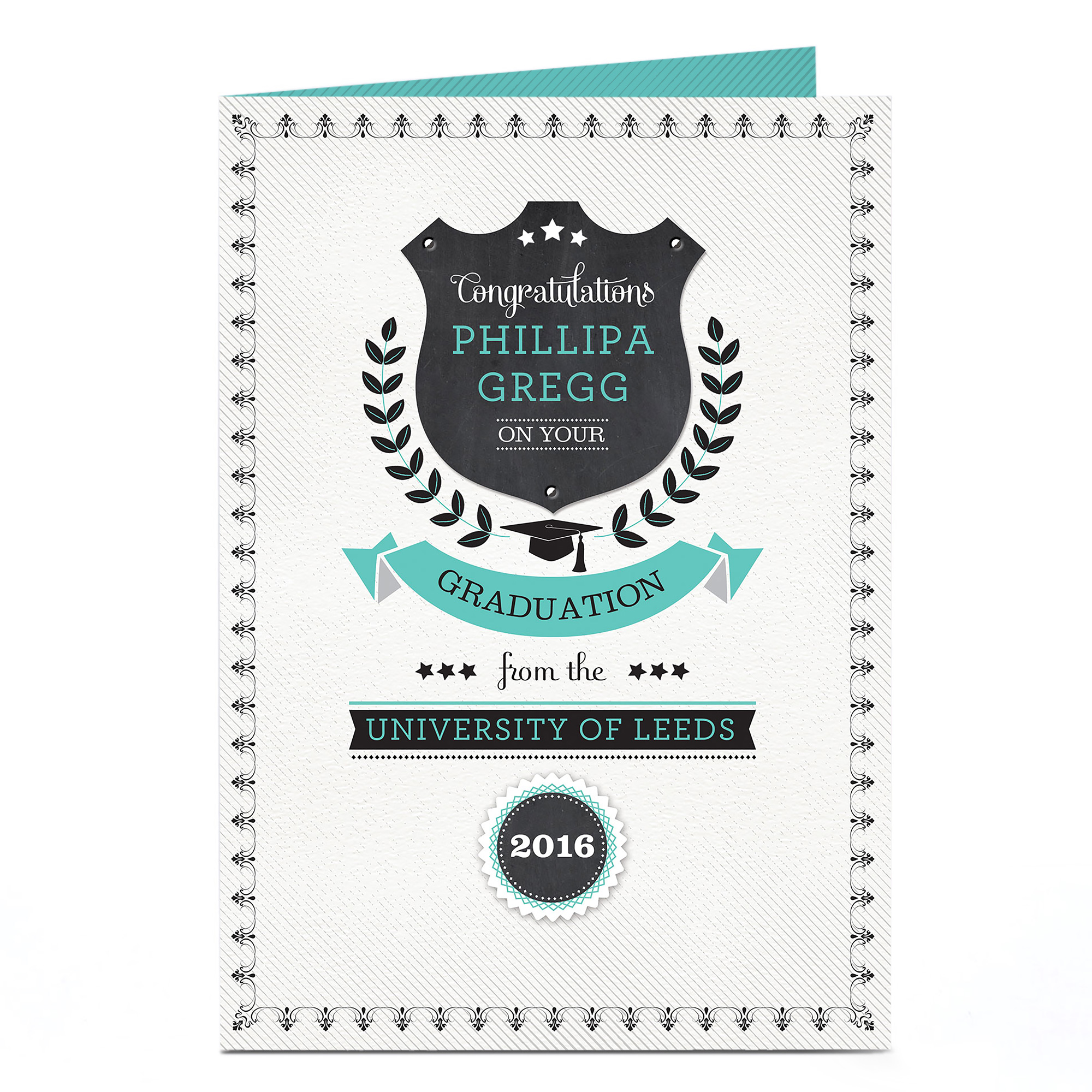 Personalised Graduation Card - Shield