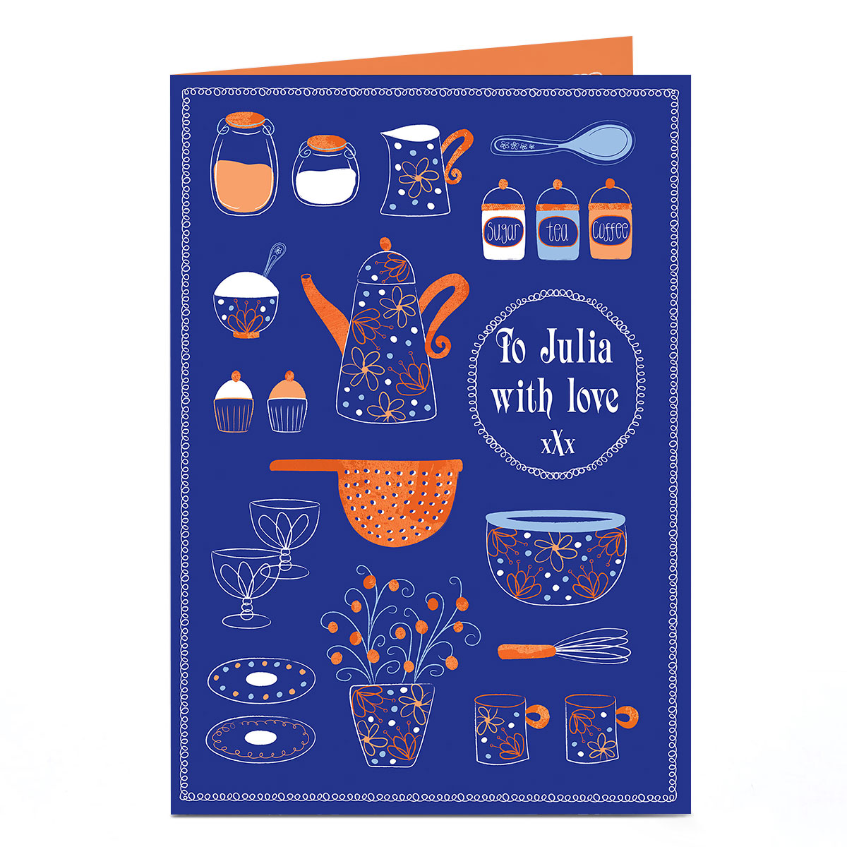 Personalised Card - Cooking Supplies