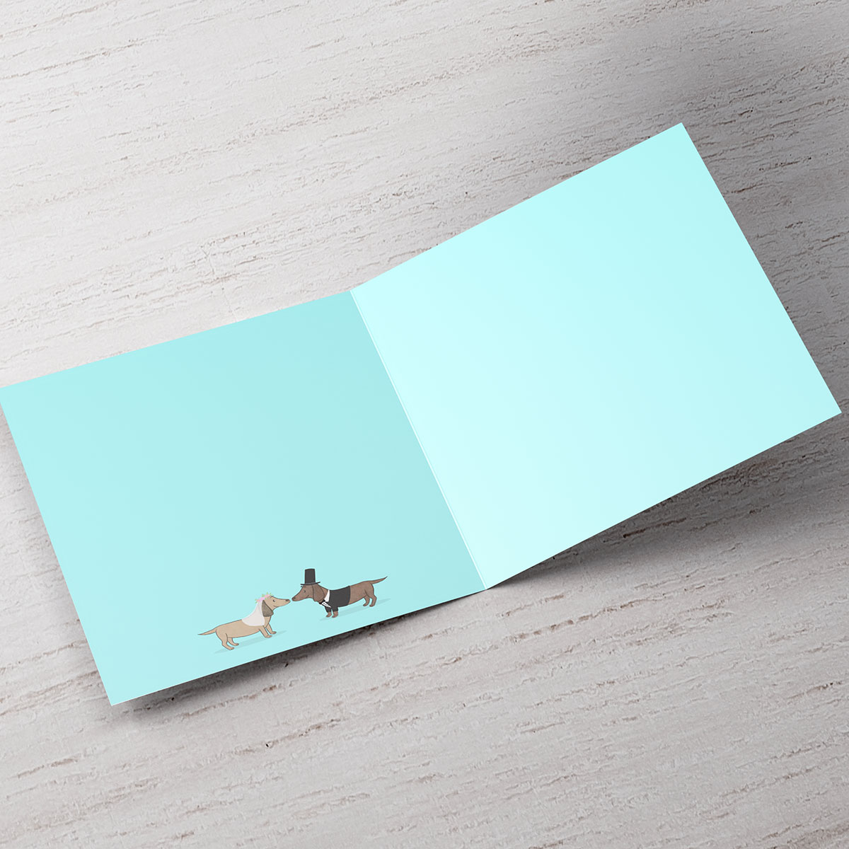 Personalised Wedding Card - With Woof On Your Big Day