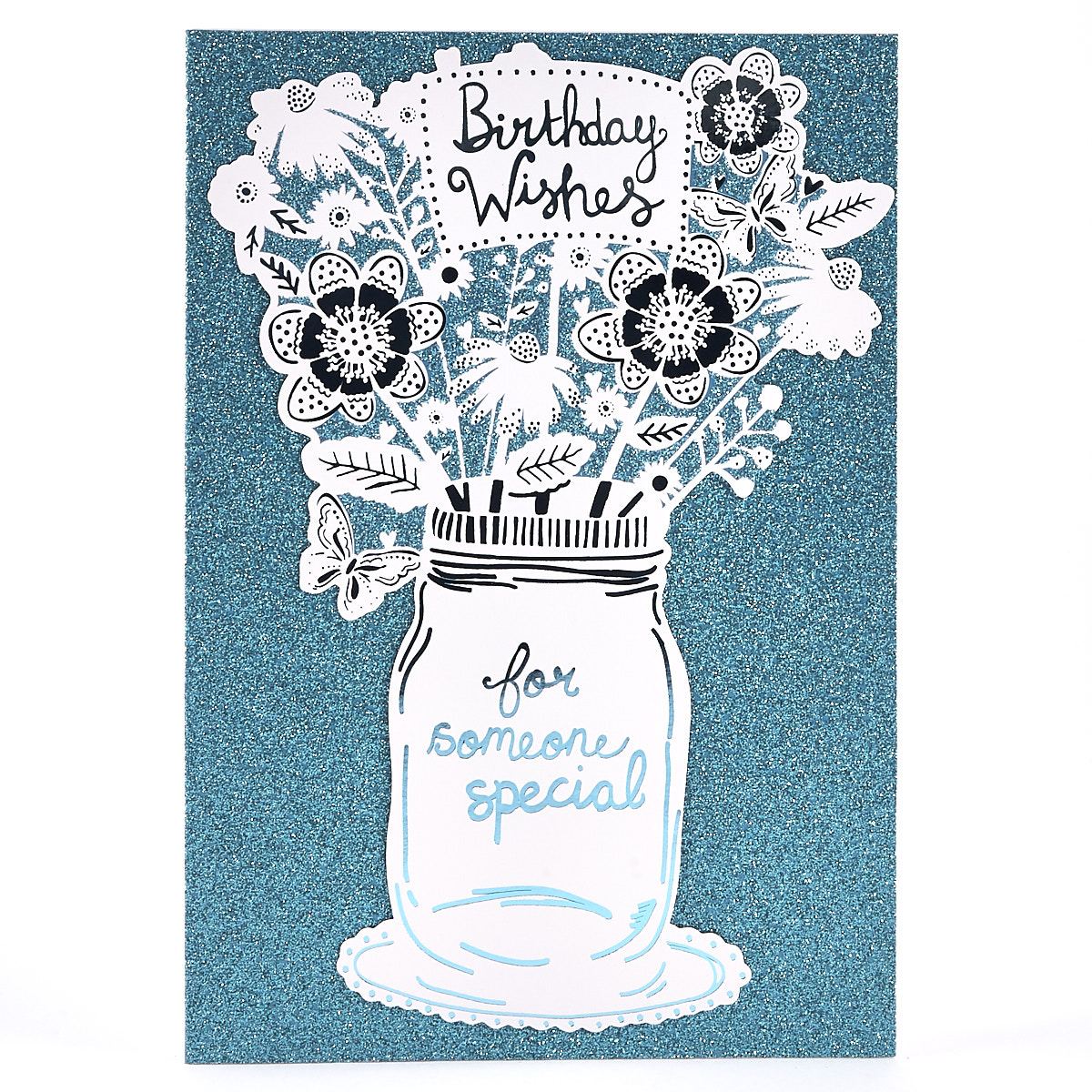 Birthday Card - Special Someone Blue Glitter