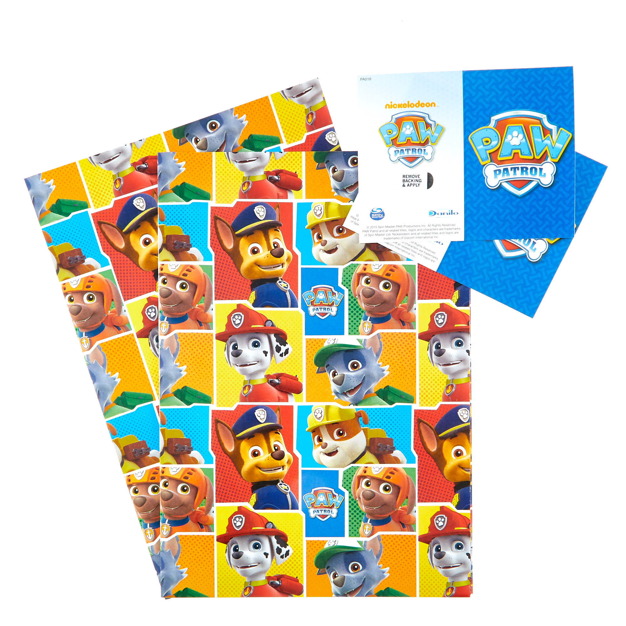 buy paw patrol wrapping paper  gift tags  pack of 2 for