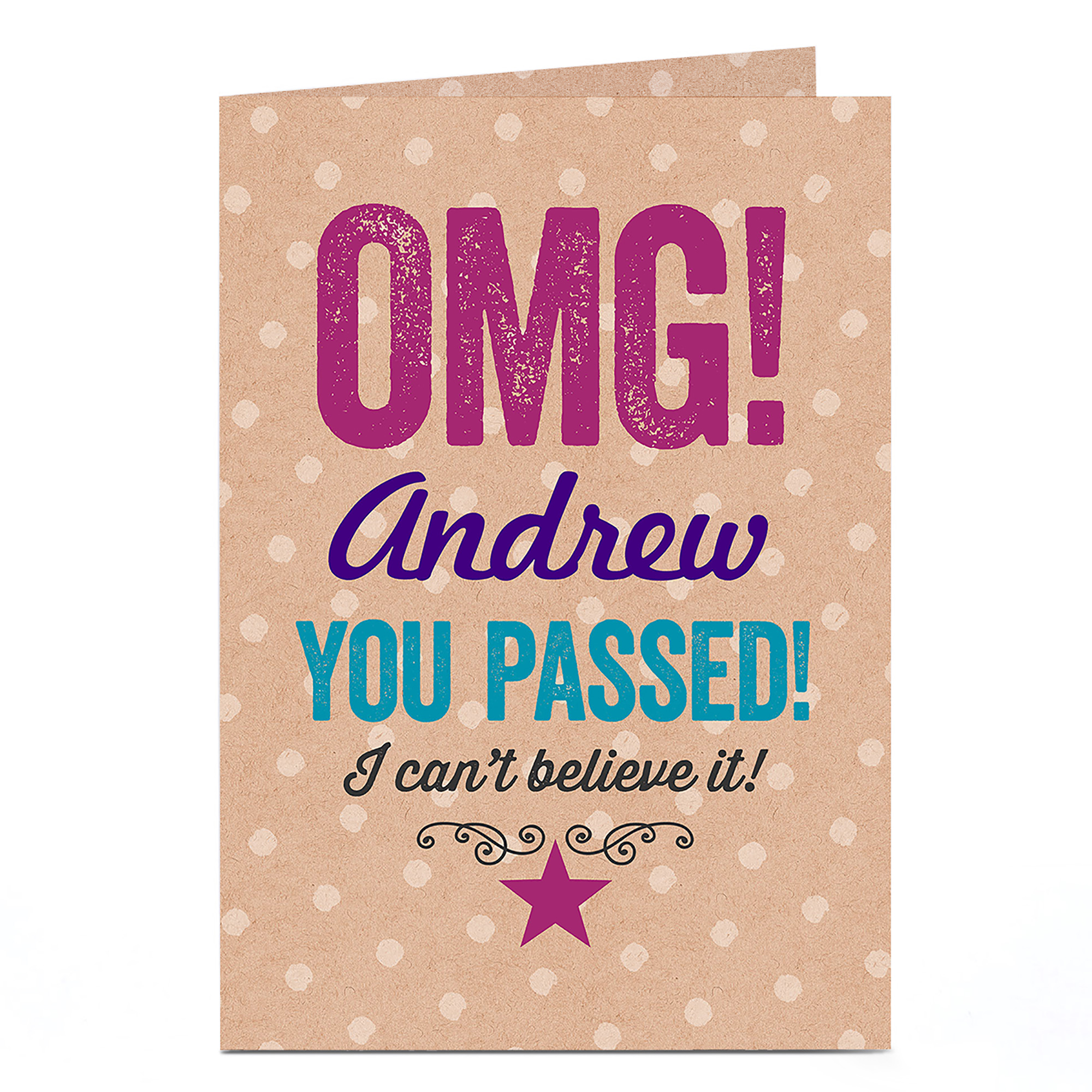 Personalised Congratulations Card - OMG! You Passed!