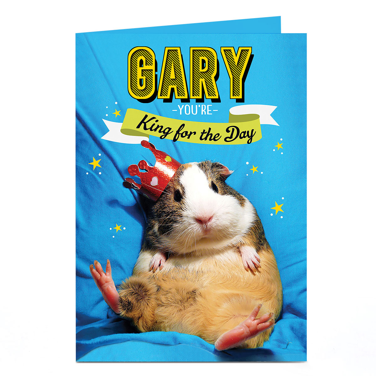 Personalised Birthday Card - Guinea Pig King