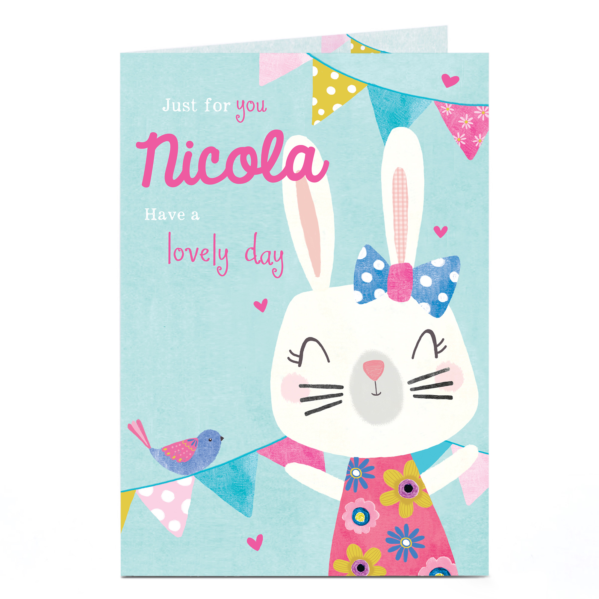 Personalised Card - Bunny, Lovely Day