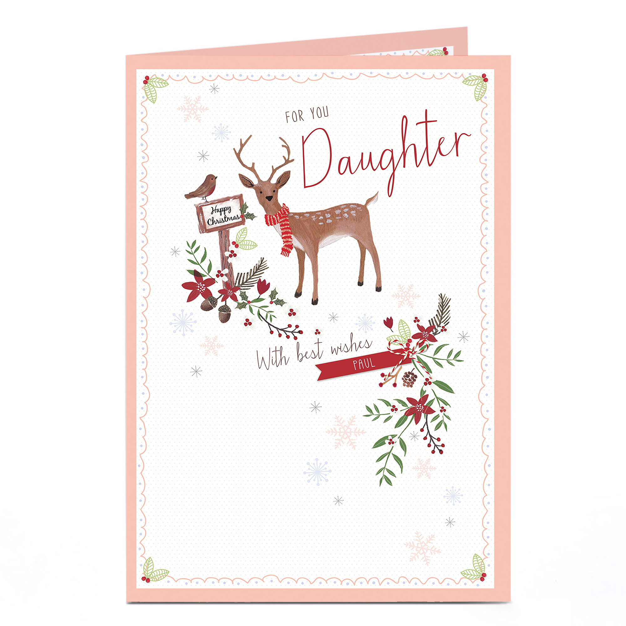 Personalised Christmas Card - For You Daughter