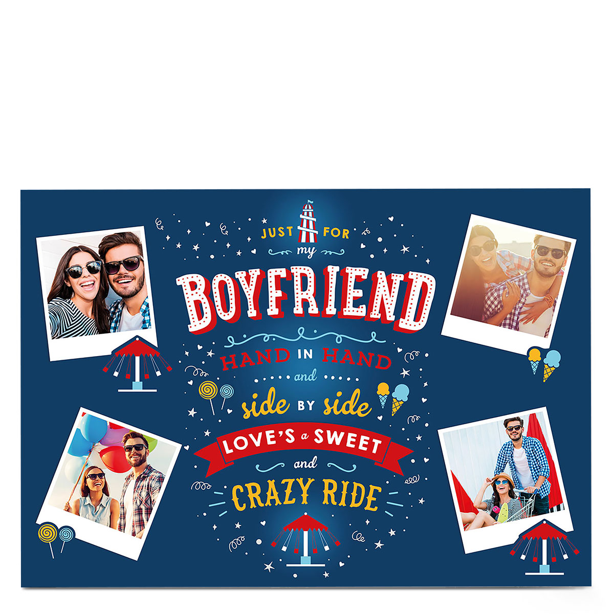 Multi Photo Card - Crazy Ride Boyfriend