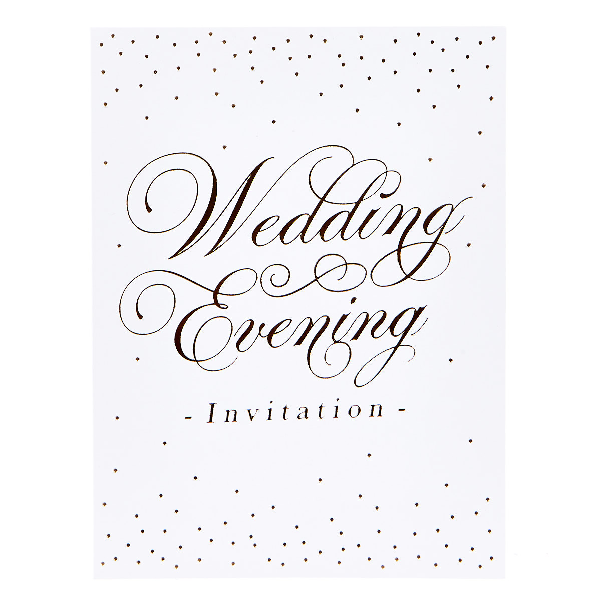 buy white  gold evening wedding invitations  set of 12