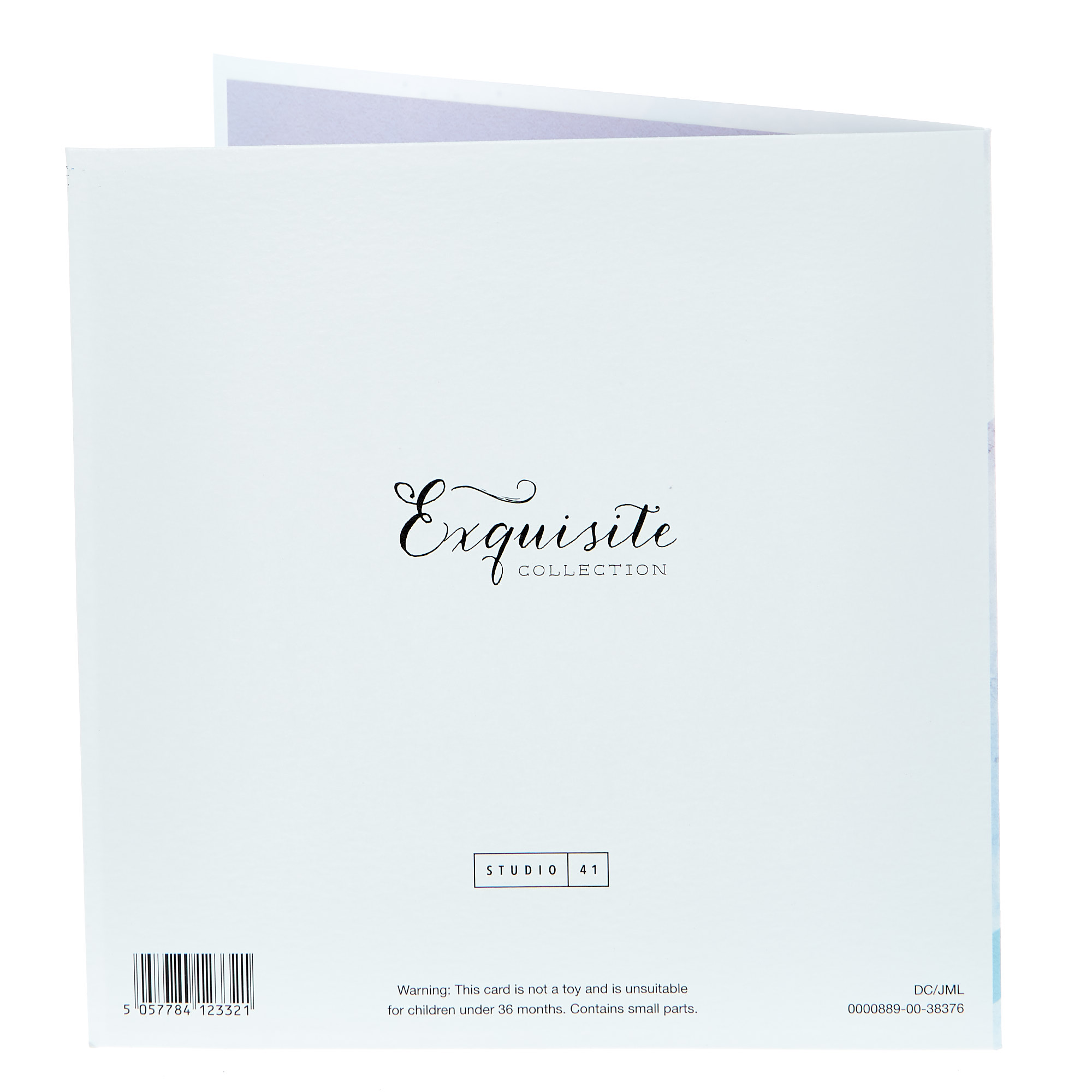 Exquisite Collection New Baby Card - Beautiful Boy (With Stickers)