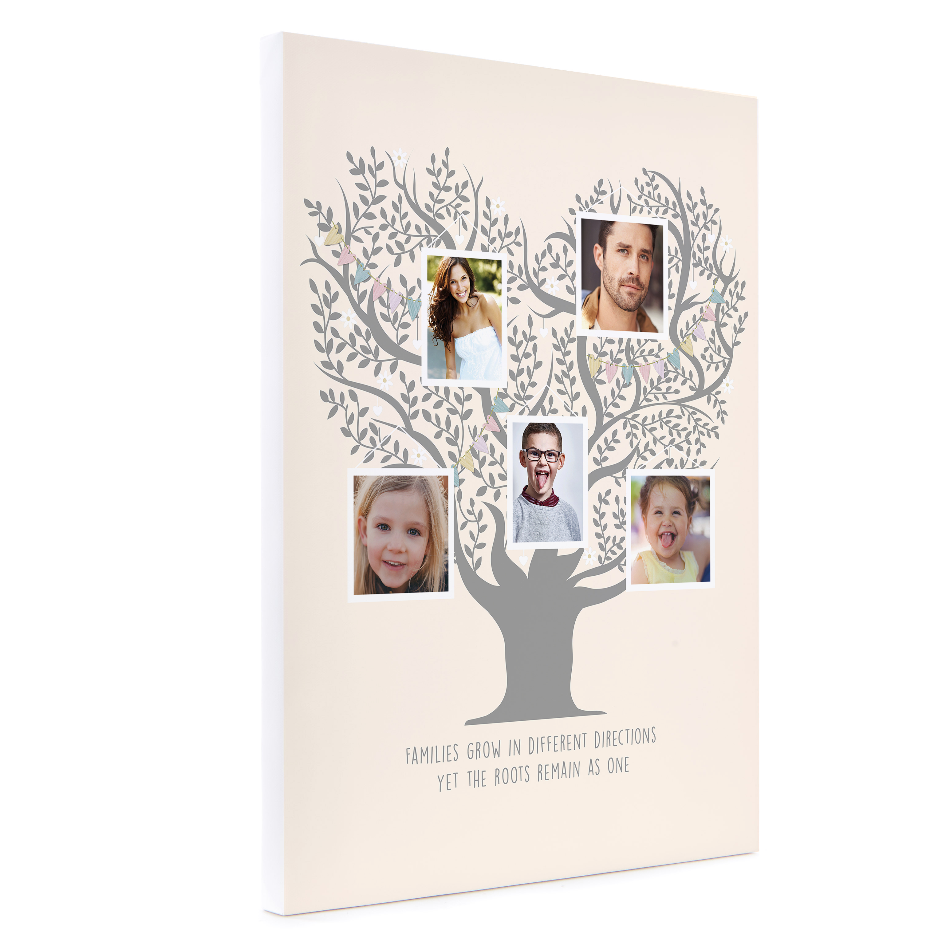 Personalised Canvas - 16x12 (Portrait) - Family Photo Tree