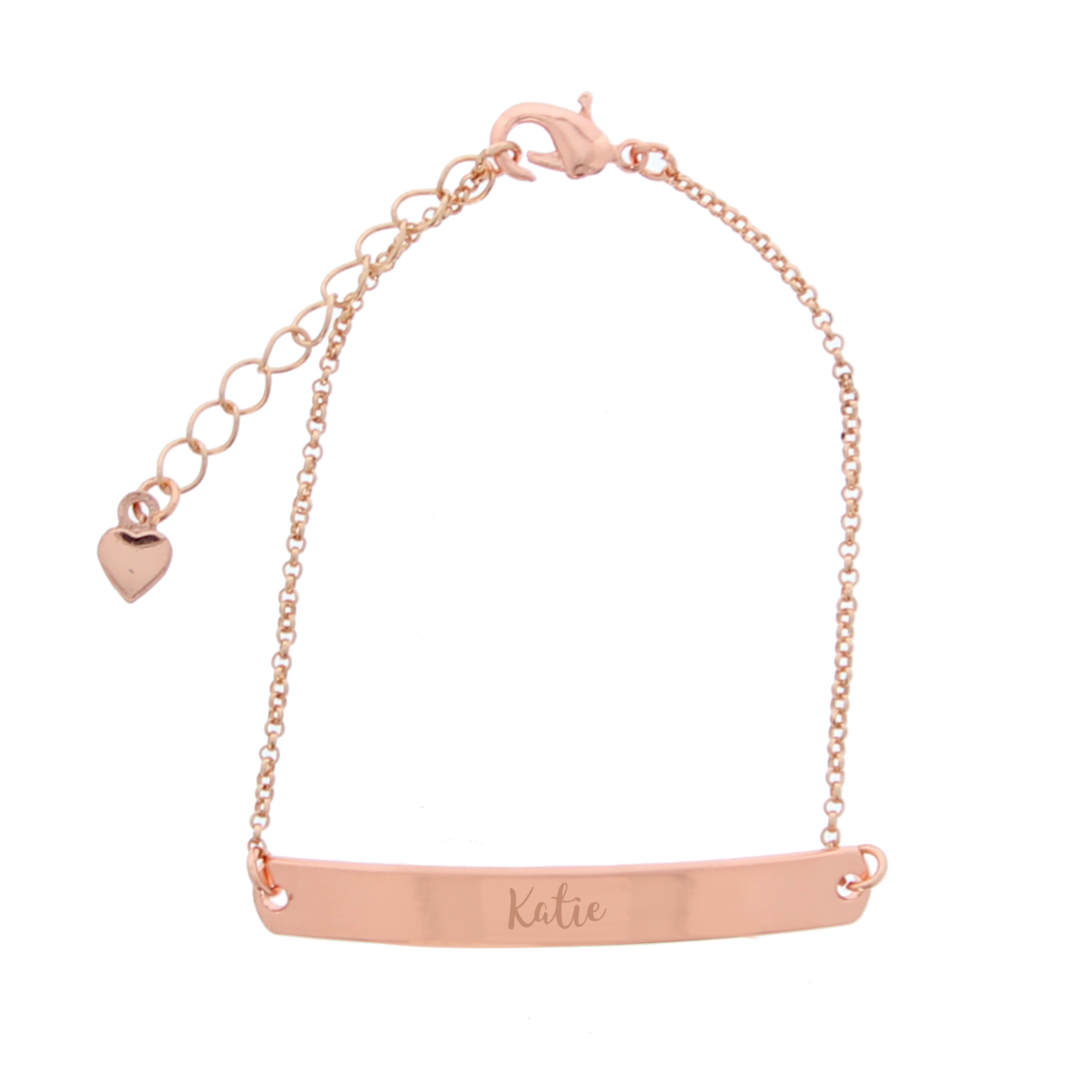Personalised Rose Gold ID Bracelet