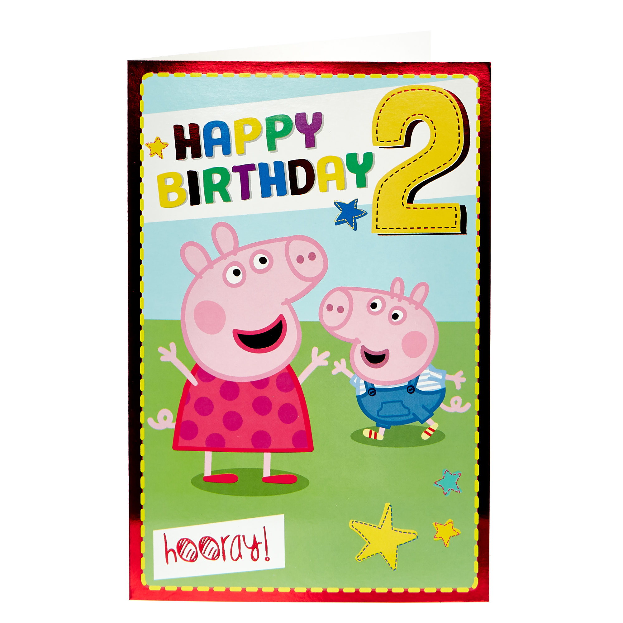 buy peppa pig 2nd birthday card for gbp 099  card factory uk