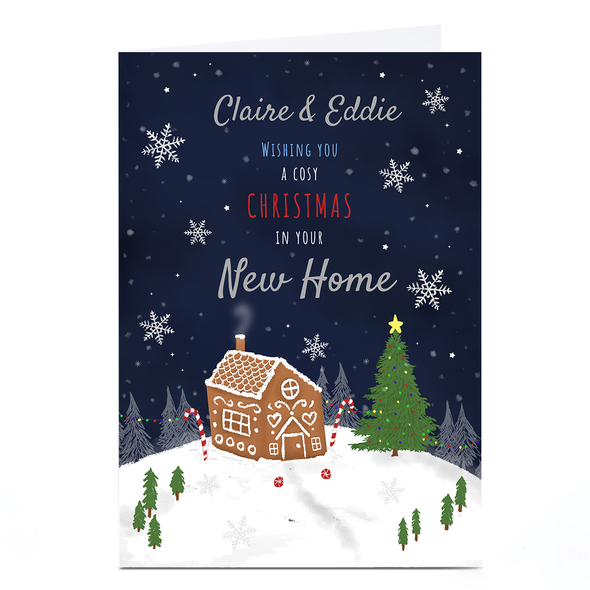 Personalised Christmas Card - In Your New Home
