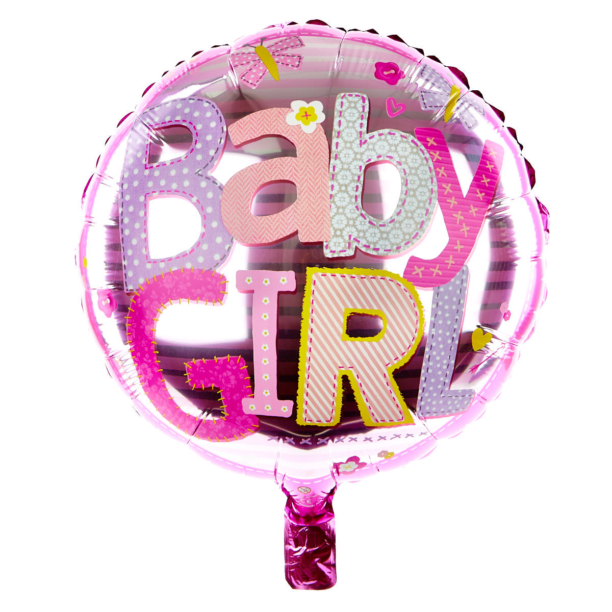 Pink Baby Girl 18 Inch Foil Helium Balloon