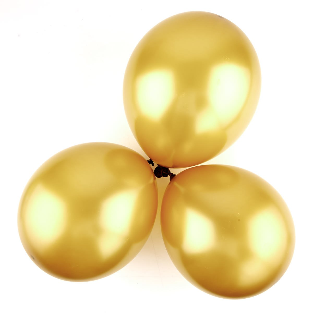 Metallic Gold Latex Balloons - Pack Of 6