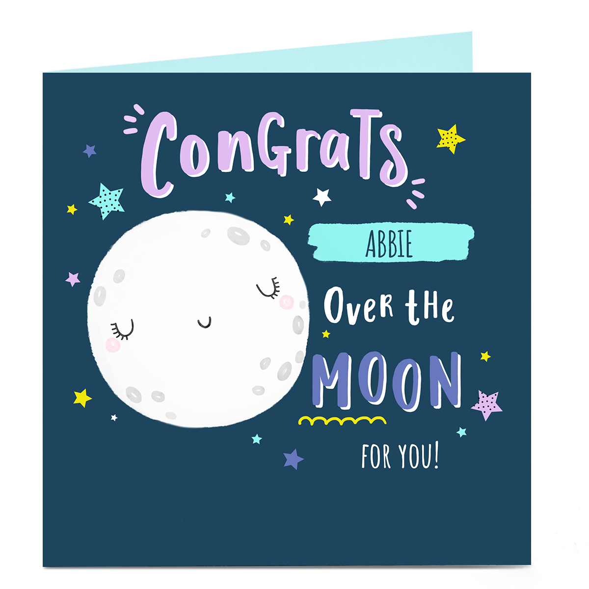 Personalised Congratulations Card - Over The Moon