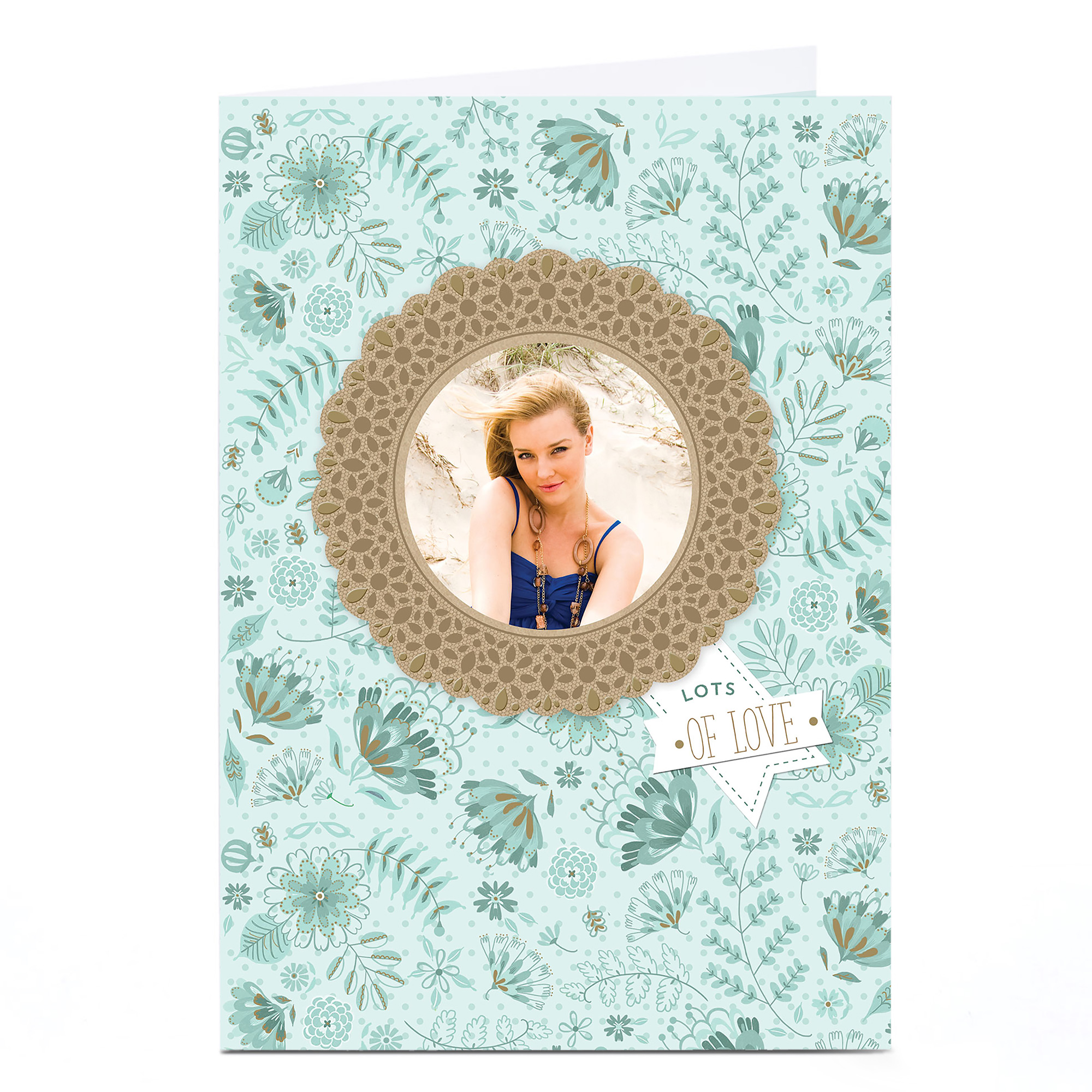 Photo Card - Rosette Picture Frame