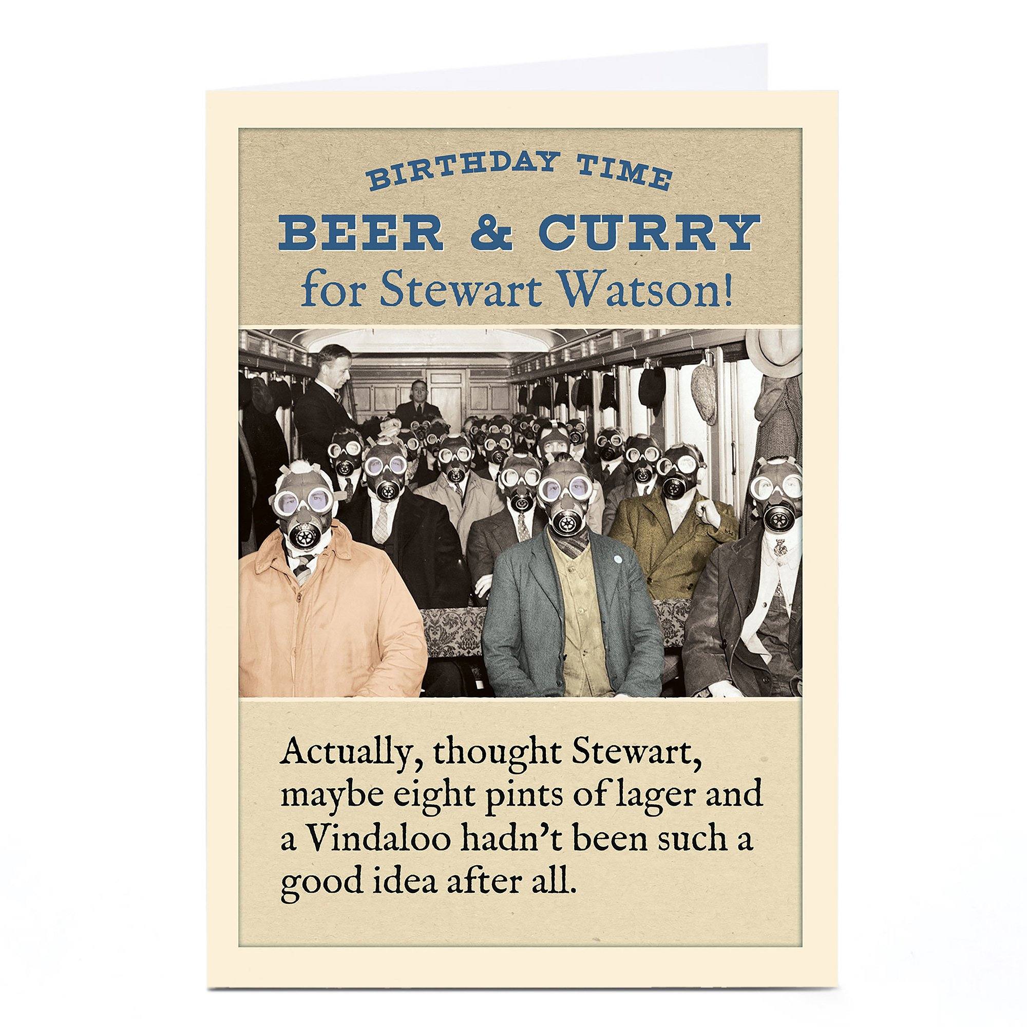 Personalised Madcap Manor Card - Beer And Curry
