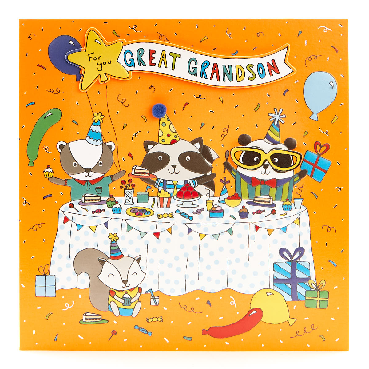 buy vip collection birthday card  great grandson party