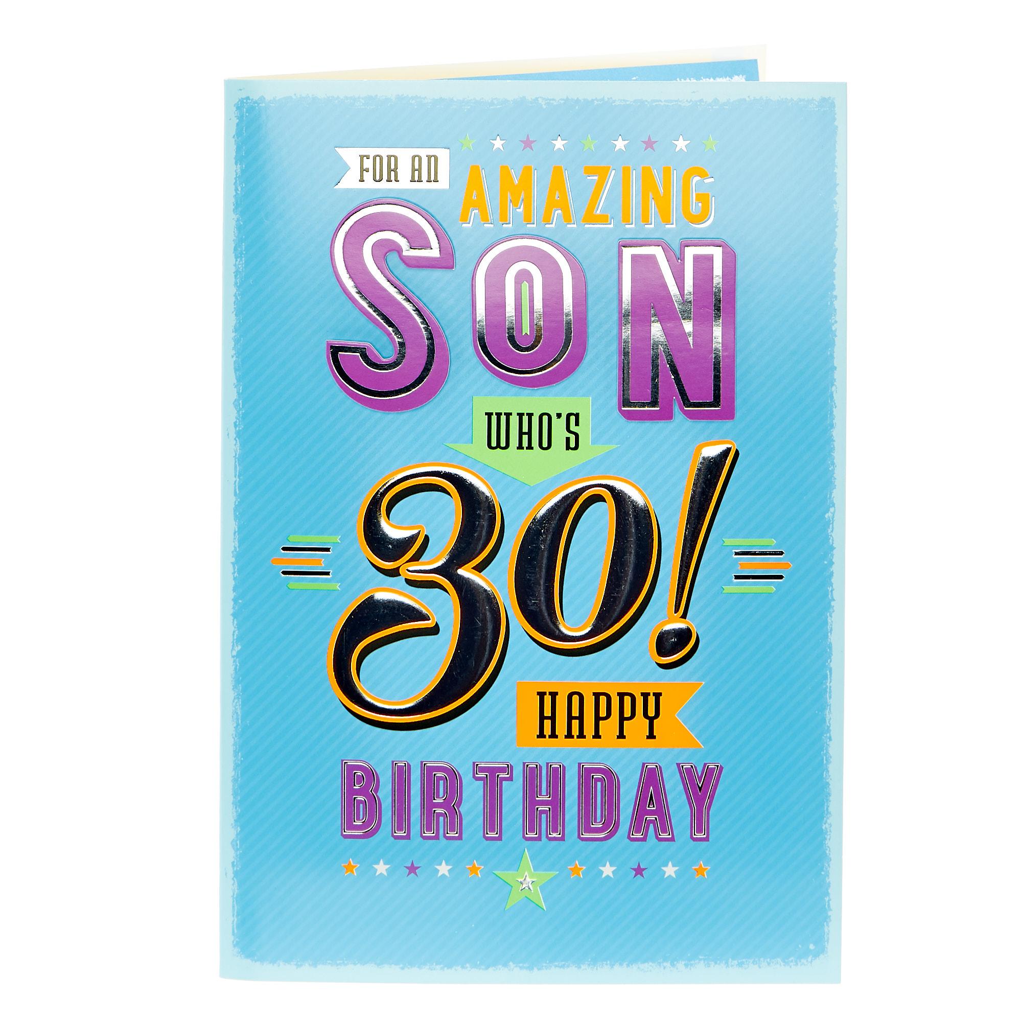 Happy Birthday 30th Son