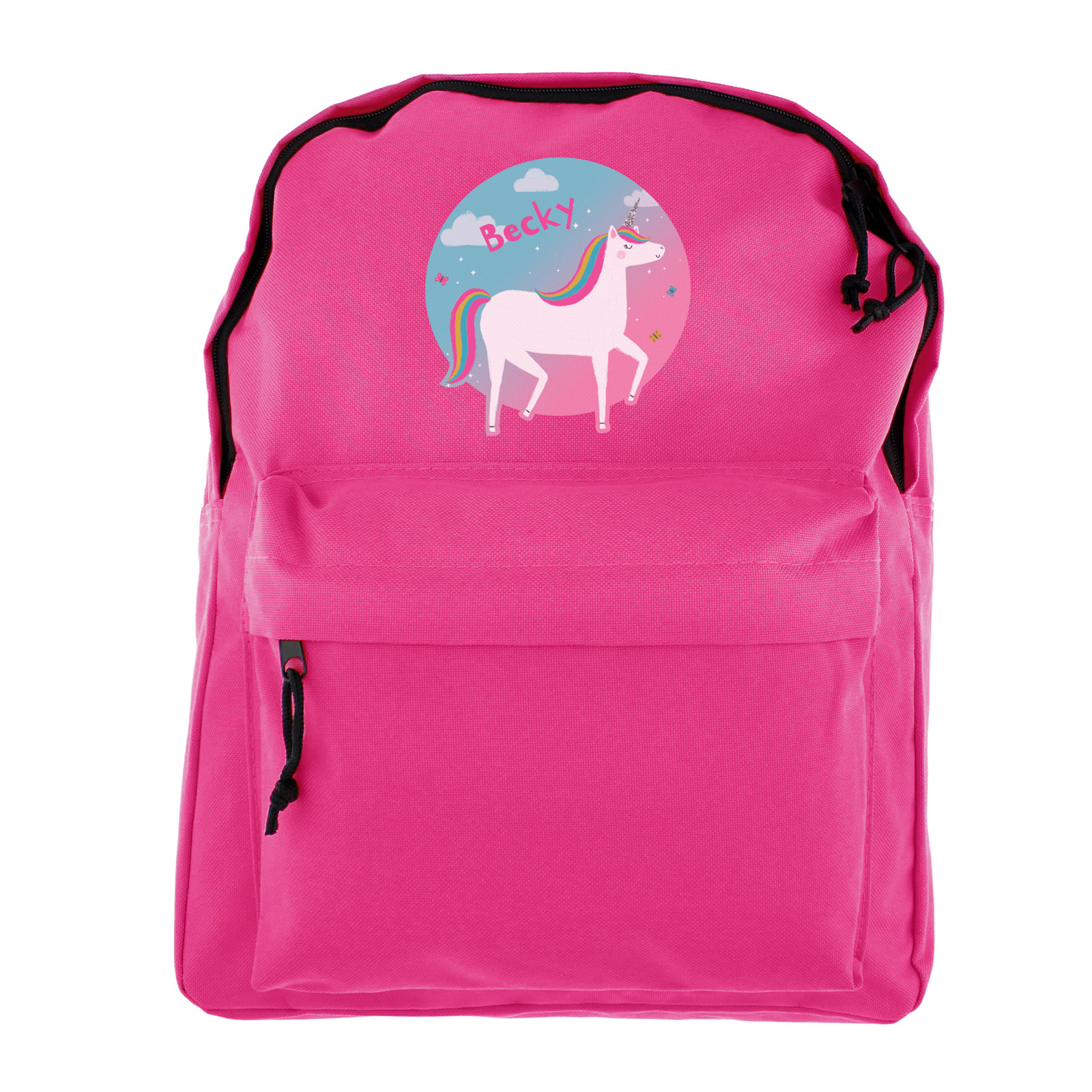 Personalised Backpack - Pink Unicorn