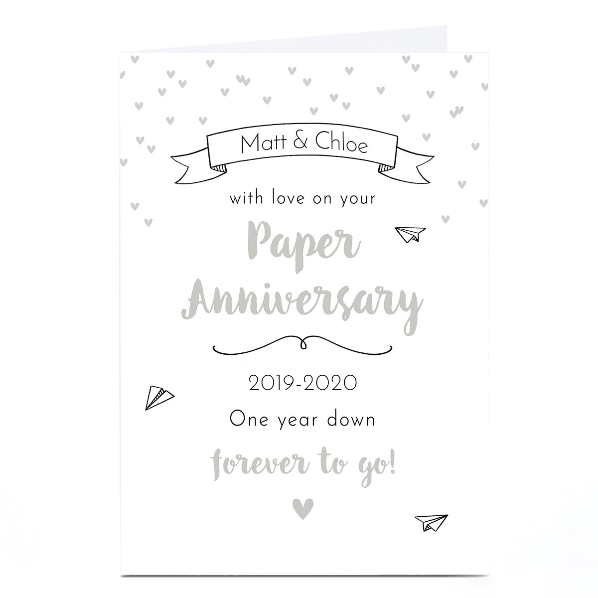 Personalised Anniversary Card - Paper Anniversary