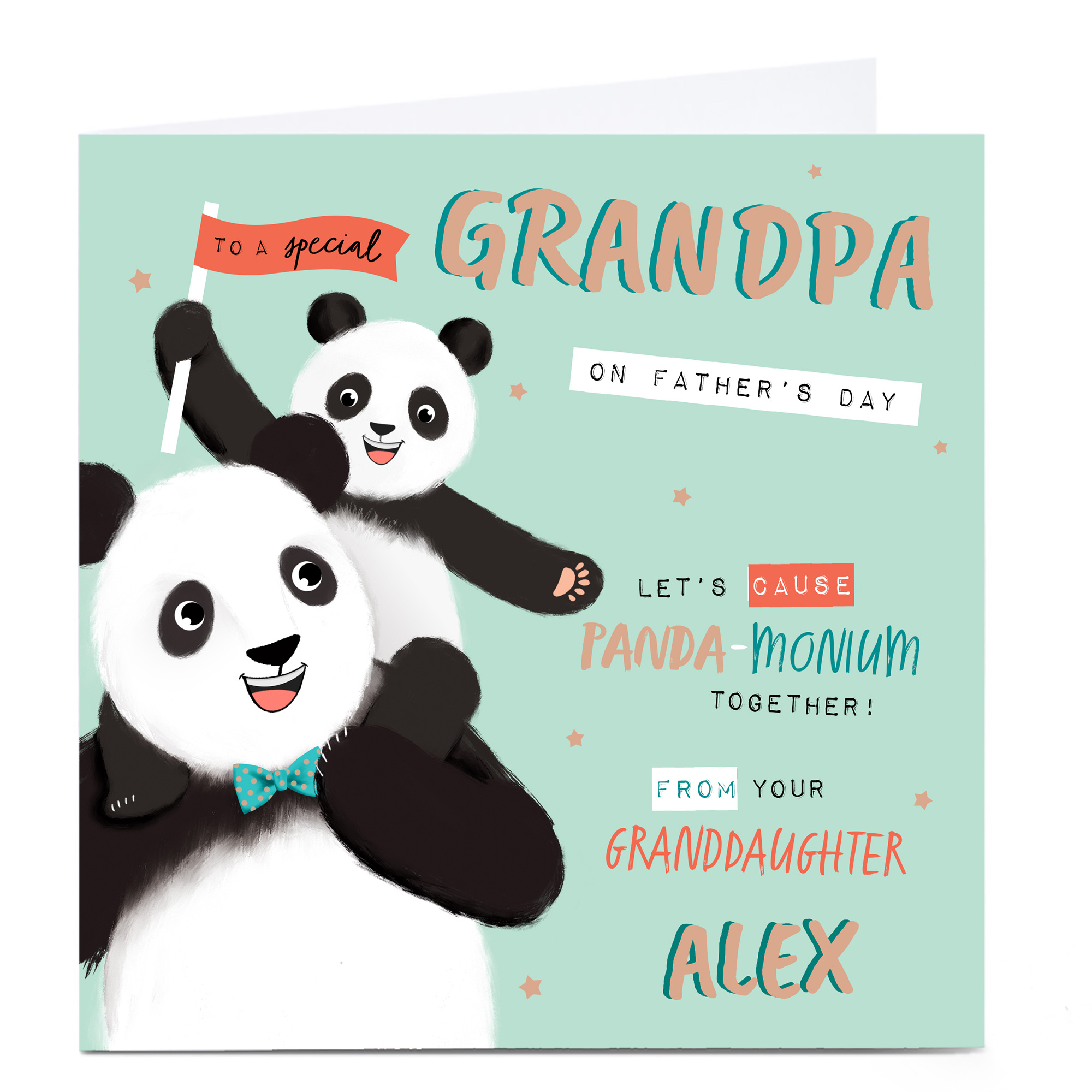 Personalised Father's Day Card - Grandpa From Granddaughter
