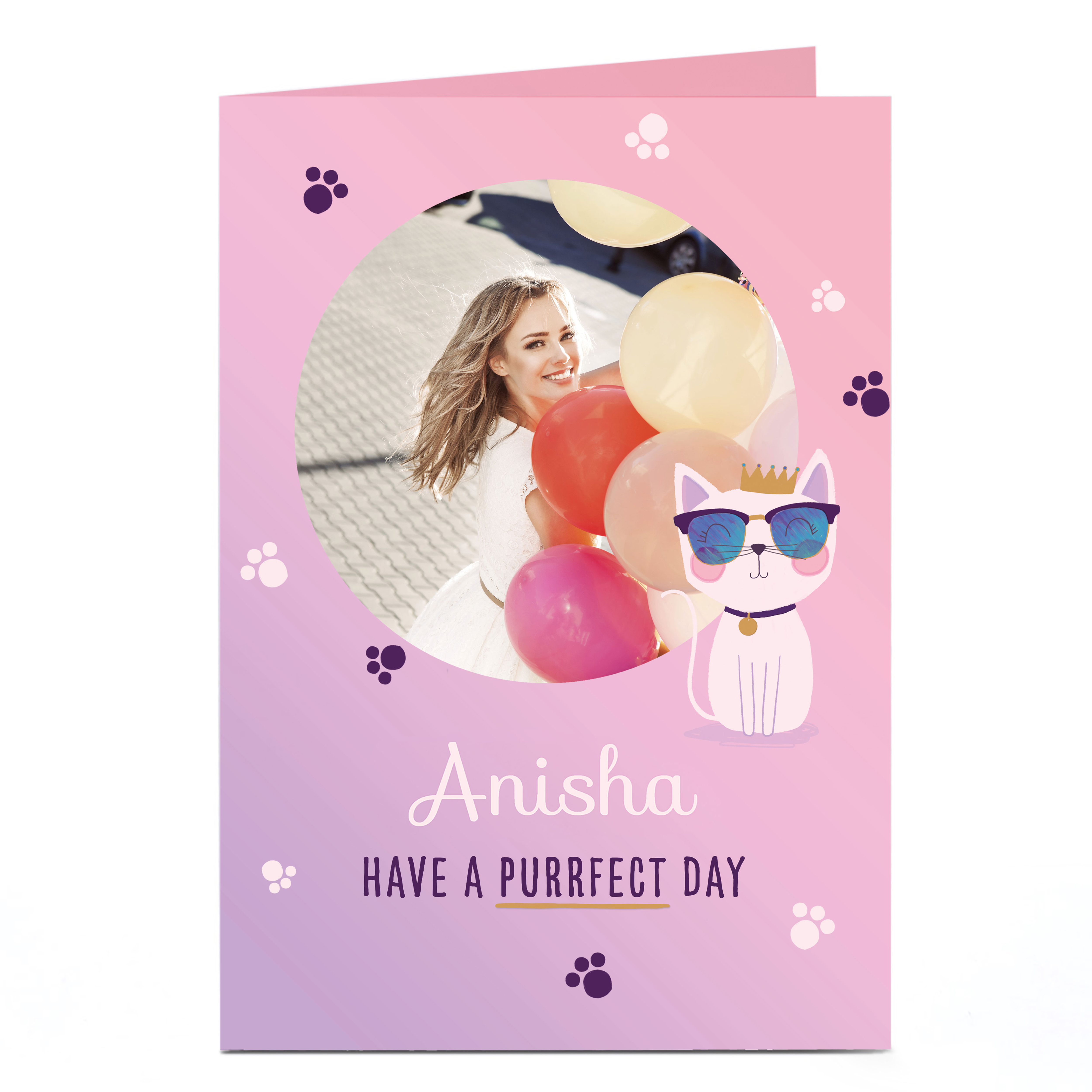 Photo Birthday Card - Have A Purrfect Day