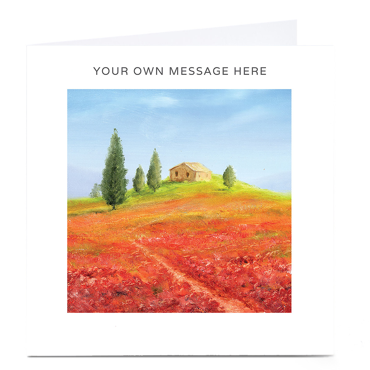 Personalised Card - House On A Hill